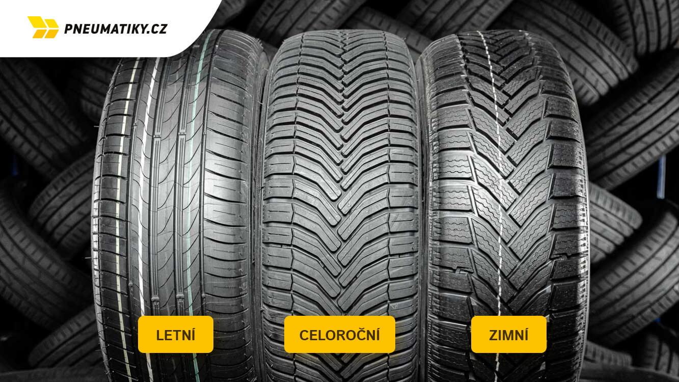 Jaký je rozdíl mezi letní, zimní a celoroční pneumatikou ?